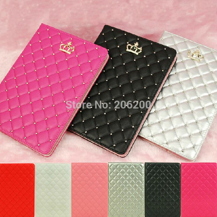 Luxury Lambskin Diamond Leather Case for iPad 2/3/4 9.7inch Fashion Plaid Foldable Stand Smart Cover for iPad 2 iPad 3 iPad 4