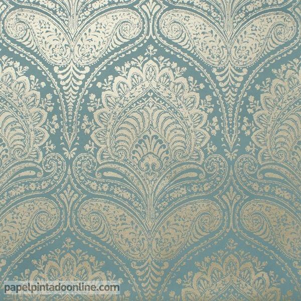 17 mejores ideas sobre papel pintado damasco en pinterest - Marcas de papel pintado ...