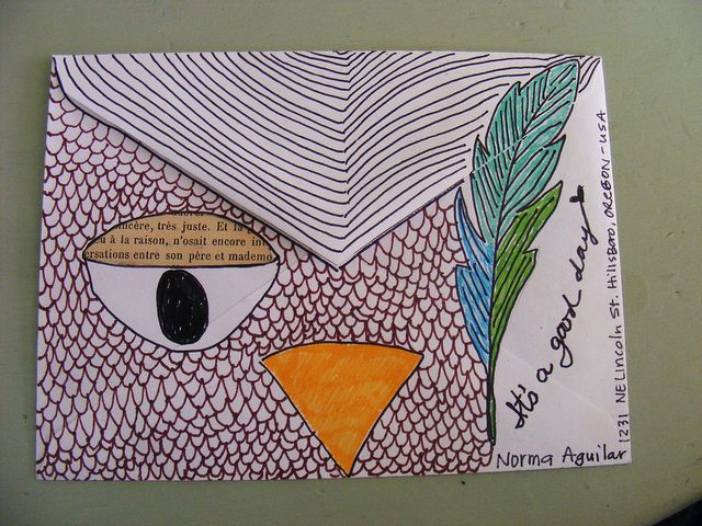 owl mail art