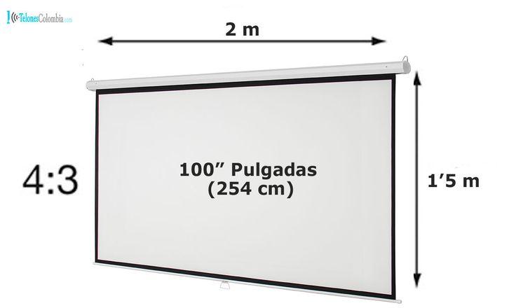 Pantalla con formato 4:3 de 100 pulgadas