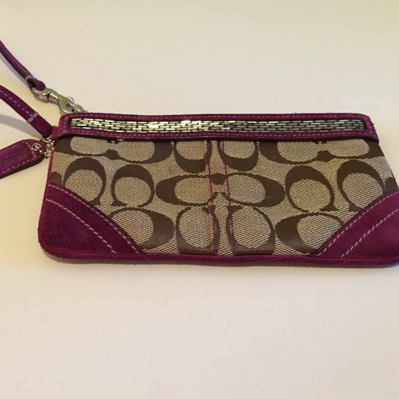 Beaded Coach wristlet Medium sized wristlet- can be used as a wallet Coach Bags Clutches & Wristlets