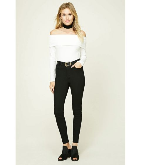 Promotie • Imbracaminte Femei Forever21 High-Rise Skinny Jeans Black