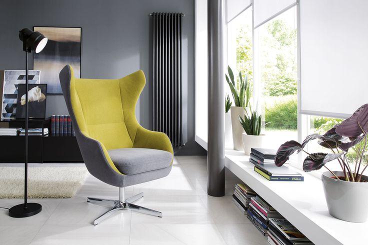 """Przytulny """"uszak"""" Zing, to świetny pomysł na wypoczynek w pojedynkę. #GalaCollezione #Zing #fotel #design #wnętrza #design #interiordesign"""