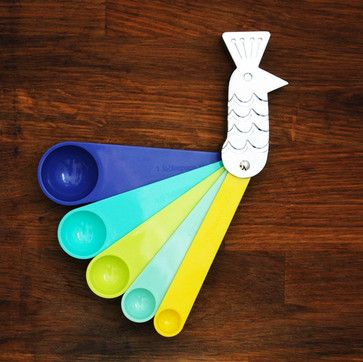 Peacock Measuring Spoons - eclectic - kitchen tools - - by Our Workshop