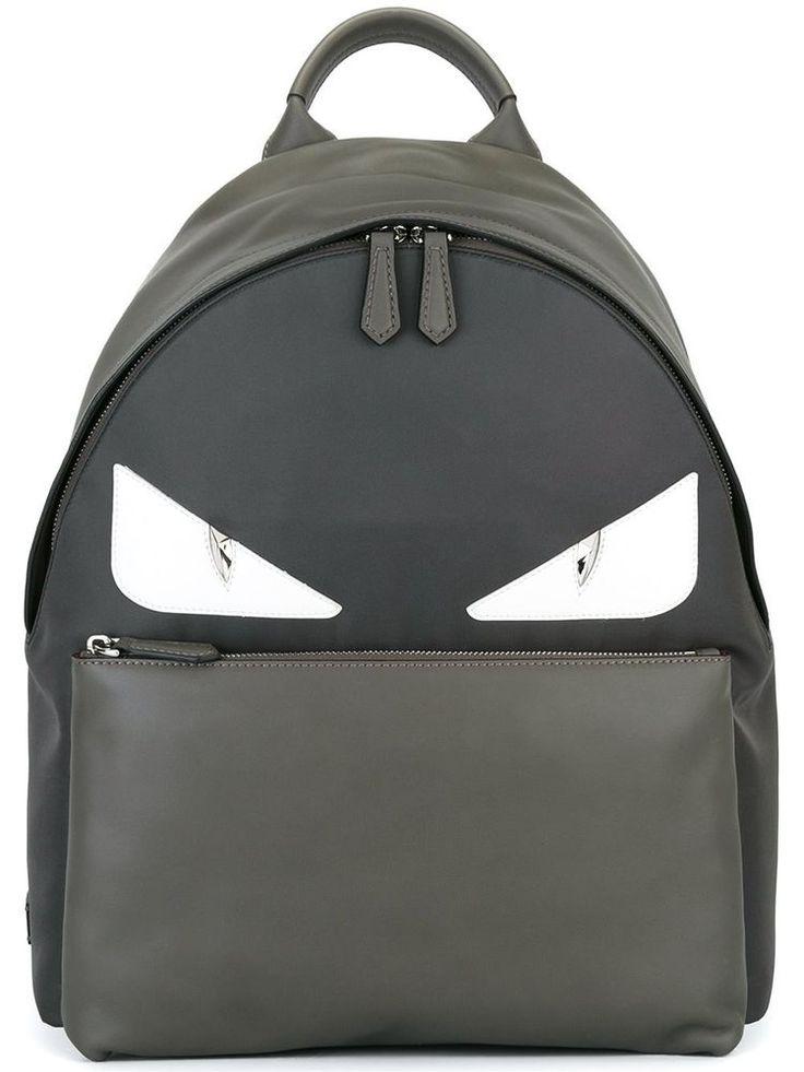FENDI BACKPACK BAG BUGS BACKPACK GREY MONSTER EYES 7VZ012 8FC F06HL #FENDI #Backpack