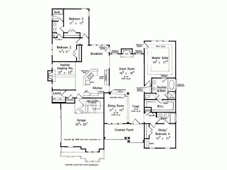 Eplans Country House Plan Vaulted Keeping Room 2319