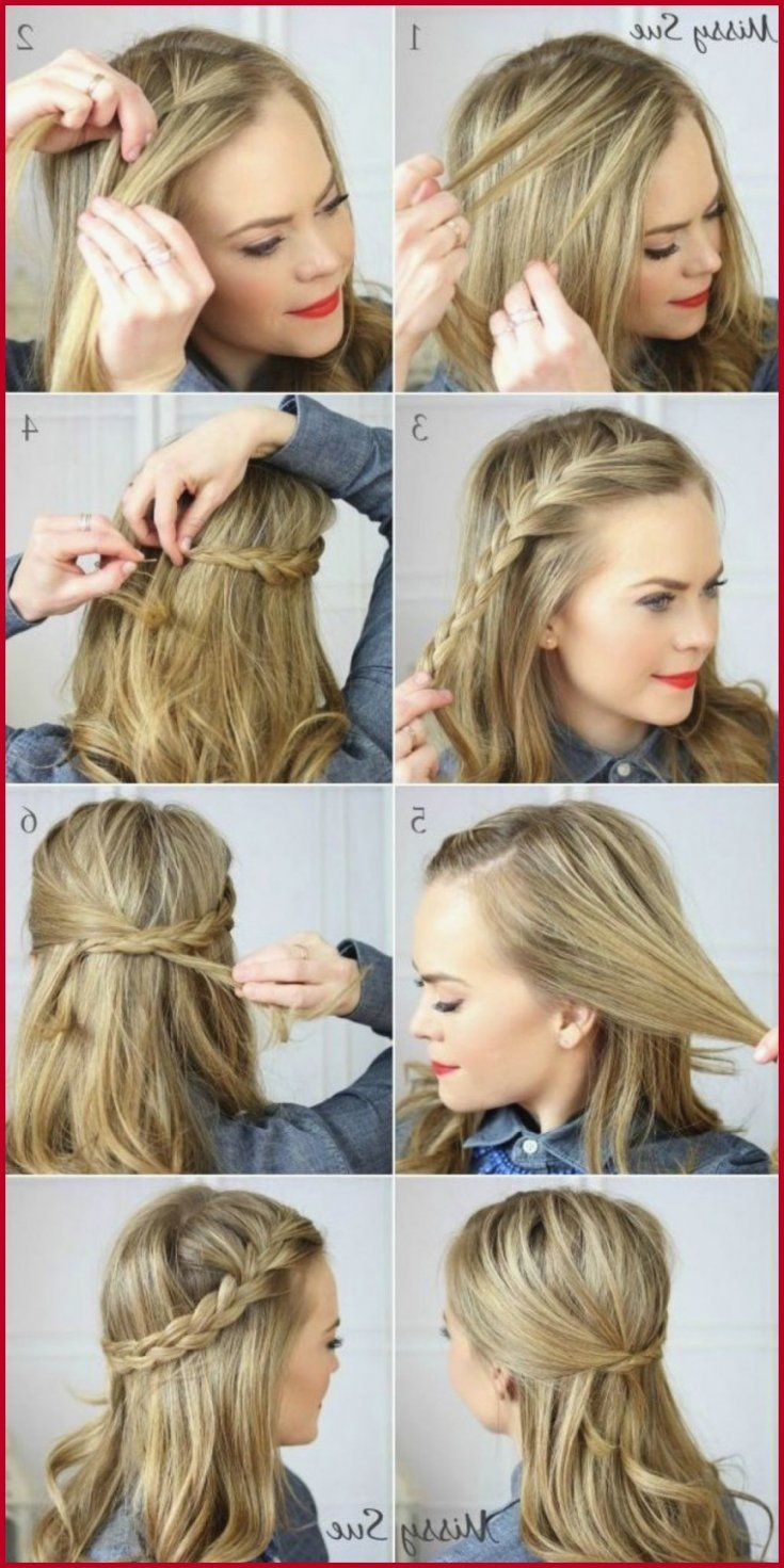 Easy Cute Hairstyles For Medium Length Thick Hair Hairstyle Coiffure Facile Jolie Coiffure Cheveux Mi Long