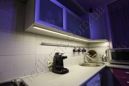 Освещение кухонной столешницы светодиодами