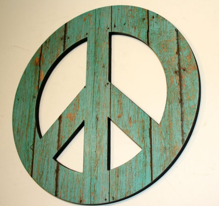 Coastal Decor Peace Sign Wall By Finchnwillowboutique 18 50