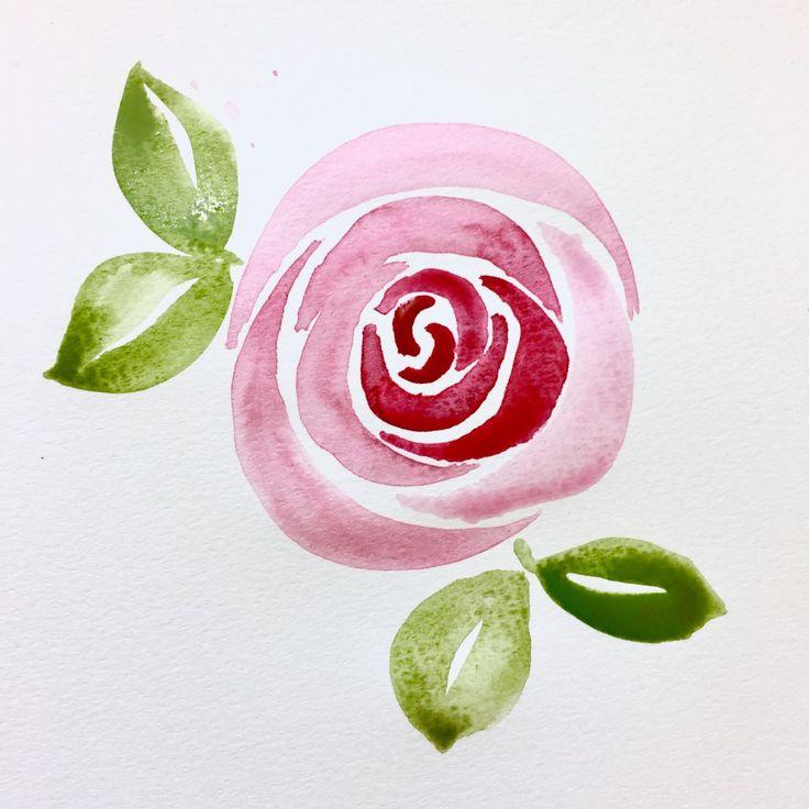 Bible Journaling- Easy Watercolor Rose Tutorial