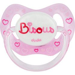 Dodie Sucette Physiologique Silicone  Bisous  Rose 18m+ P61 - dodie - 3.30€