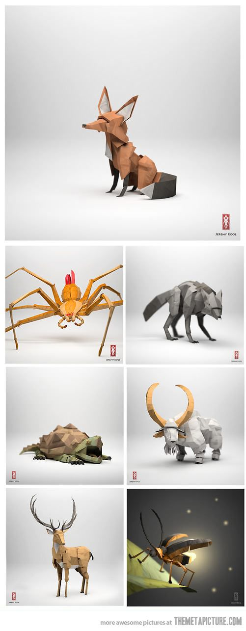 Incredibly realistic origami art… :O!! #autism #aspergers