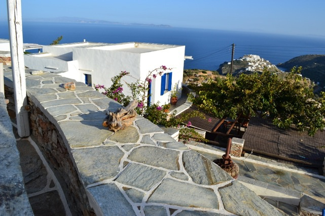 Its location on the top of a hill gives to the hotel a strategic view to the neighbouring islands (Antiparos, Paros, Ios, Santorini, Folegandros, Syros, Sikinos) and to the magic village of Kastro and the surrounding villages. #Aegean #Sea #Sifnos #Greece #WindmillBellaVista