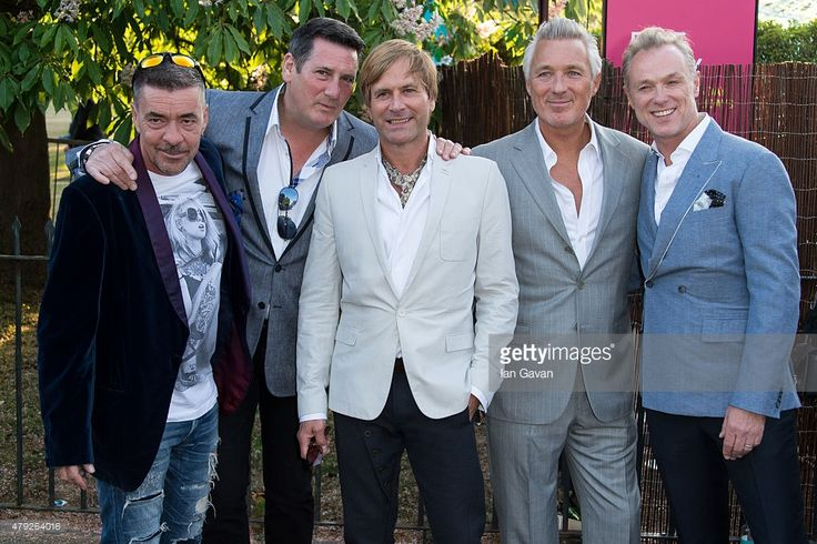 Martin Kemp, Tony Hadley, Gary Kemp, Steve Norman and John Keeble of Spandau Ballet attend the Serpentine Gallery Summer Party at The Serpentine Gallery on July 2, 2015 in London, England.