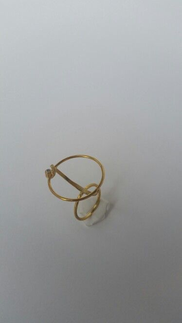 Handmade   gold plated silver ring with zircon stone. Ask me more on my Facebook account  Despina  Kornelaki