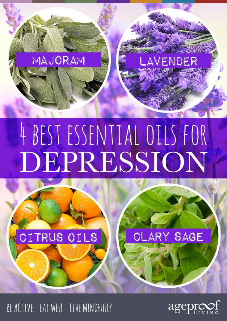 The 4 Best Essential Oils For Depression & How To Use Them http://ageproofliving.com/4-best-essential-oils-depression-use #Depression #Holistic #Natural