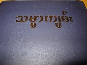 The Holy Bible in Myanmar (Burmese) / KBS- 2002 - 14M / MYAN JV32 [Vinyl Bound]