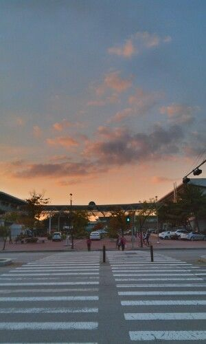 무보정 하늘. pink+blue sky