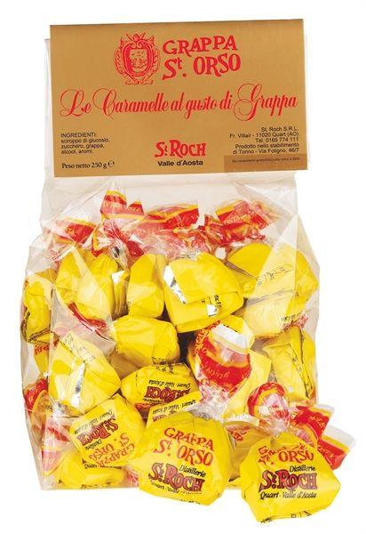 Un gusto particolare e raffinato, il profumo della grappa St. Orso, la dolcezza delle caramelle: per chi ama i sapori forti e originali.