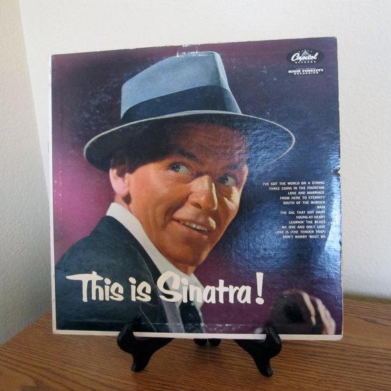 Vintage This is Sinatra Record / Retro Vinyl Album
