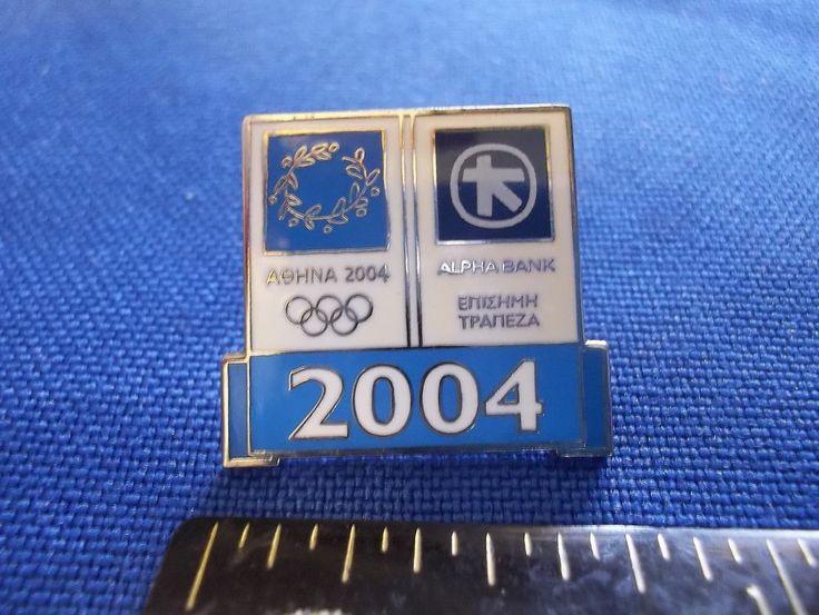 2004 Athens Olympic Sponsor Pin Alpha Bank