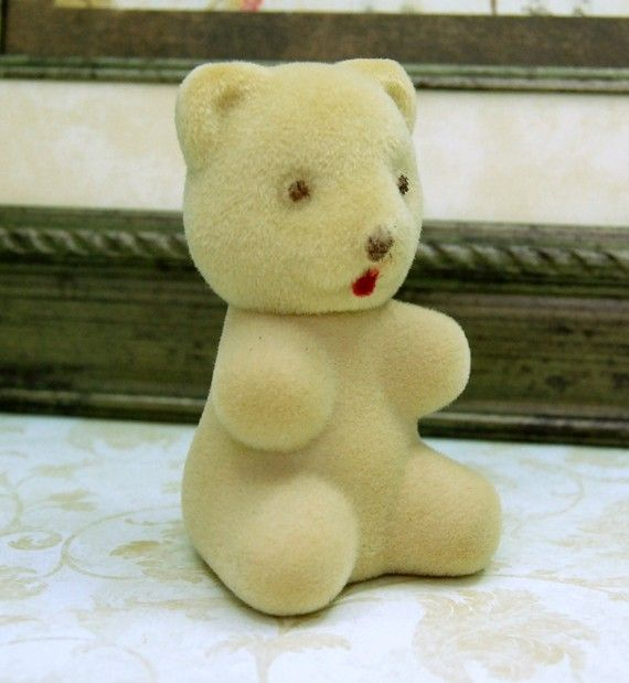 Vintage Avon Fuzzy Bear Sweet Honesty Perfume by emmjeyessvintage