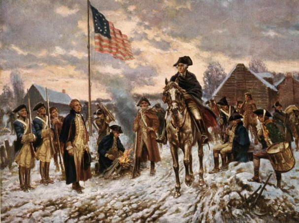 The American Revolutionary War (1775–1783) George Washington, Valley Forge