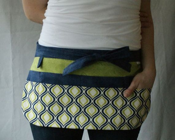 Utility Apron/Teacher Apron with 8 pockets and by AnnaTereDesigns, $35.00