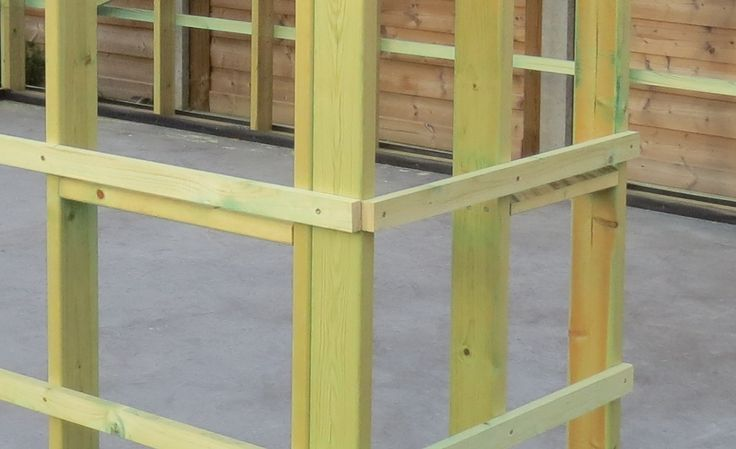 Allen,Ik ben van plan aan mijn tuinhuis te beginnen en zit wat met vragenomtrent de opbouw ervan.De bedoeling is van een houten frame te construeren (balken 95x45)met langs de buitenkant daartegen in volgorde:- osb3-platen- damp open of damp dichte folie (wat is hier best aangewezen? merken? tuinhuis wordt normaal niet geisolleerd)- panlatten- afwerking a la thermowoodAan de binnenkant kan het zijn dat ik het afwerk met osb-platen (tegen de binnenkant van de 95x45-balken.
