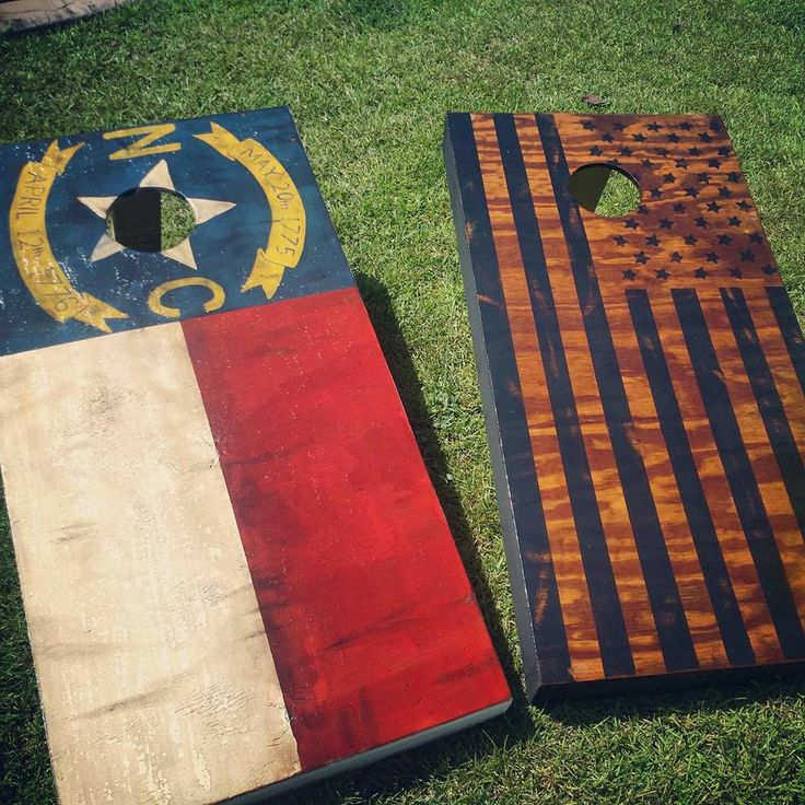 North Carolina American Flag Cornhole Boards Nc