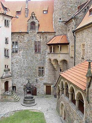 Bouzov castle courtyard (North Moravia), Czechia