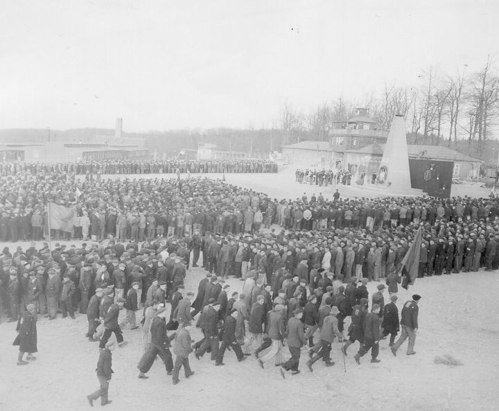 The Lost History of Antifa Antifascist rally at Buchenwald concentration camp, 1945.