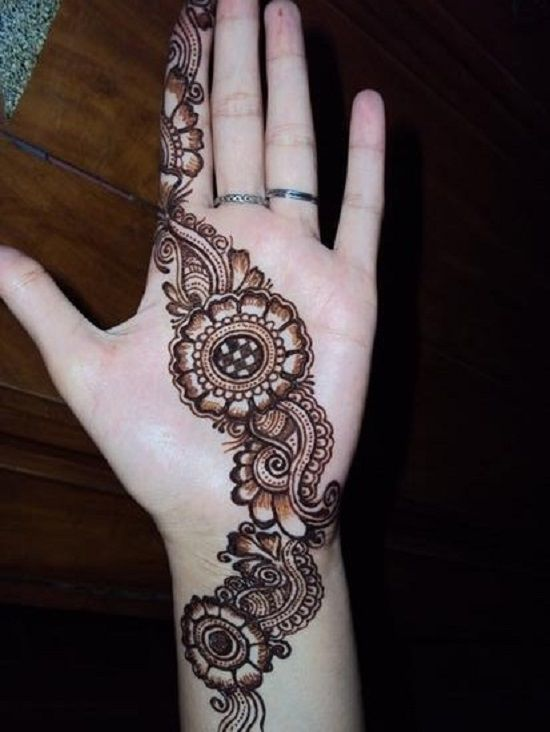 Simple Mehndi Designs For Hands Frontside | www.imgarcade.com - Online ...