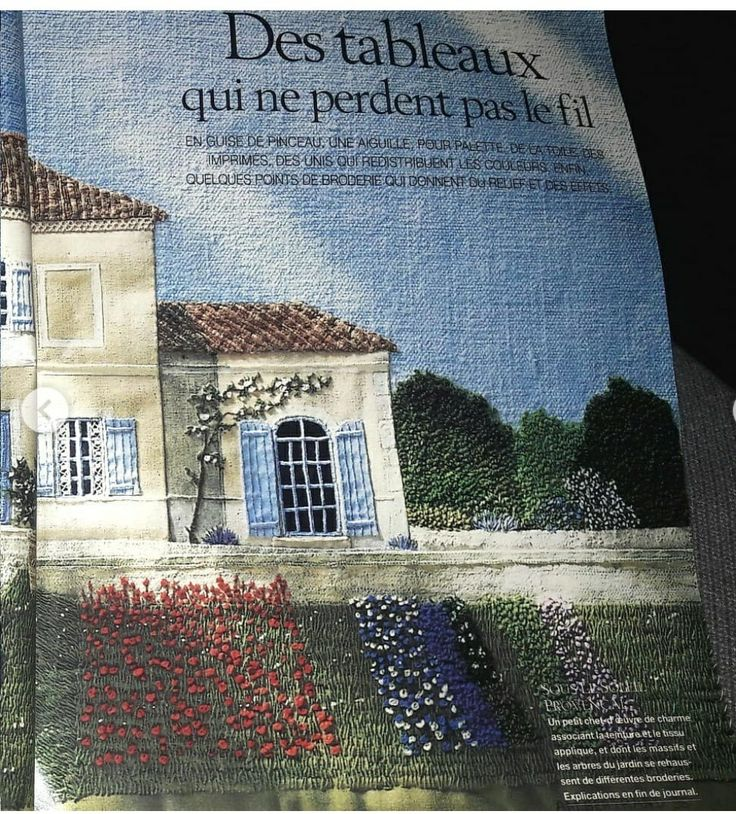 Sena Hospitality Design: Pin On Embroidery-landscapes, Houses, Plants & Trees