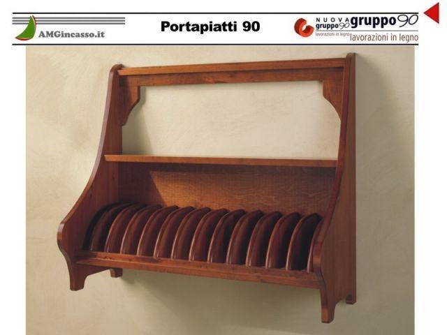 SC/G/90 - Portapiatti 90 cucina incasso Legno grezzo - Ecommerce Amgincasso