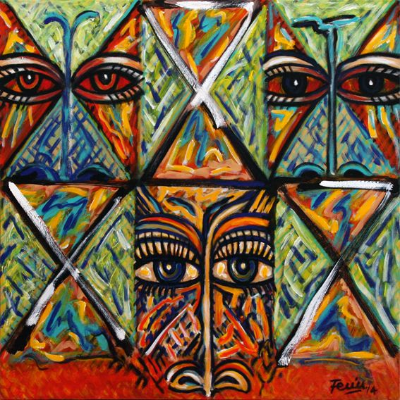 Mata Lotoa, Acrylic on canvas, 2014