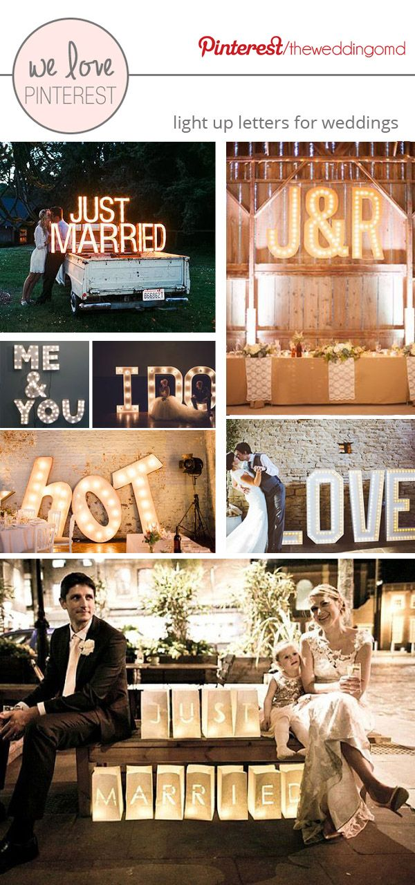 We Love – Light Up Letters For Weddings -