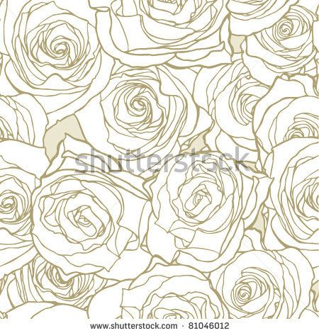 stock vector : Elegance Seamless pattern with flowers roses, vector floral illustration in vintage style