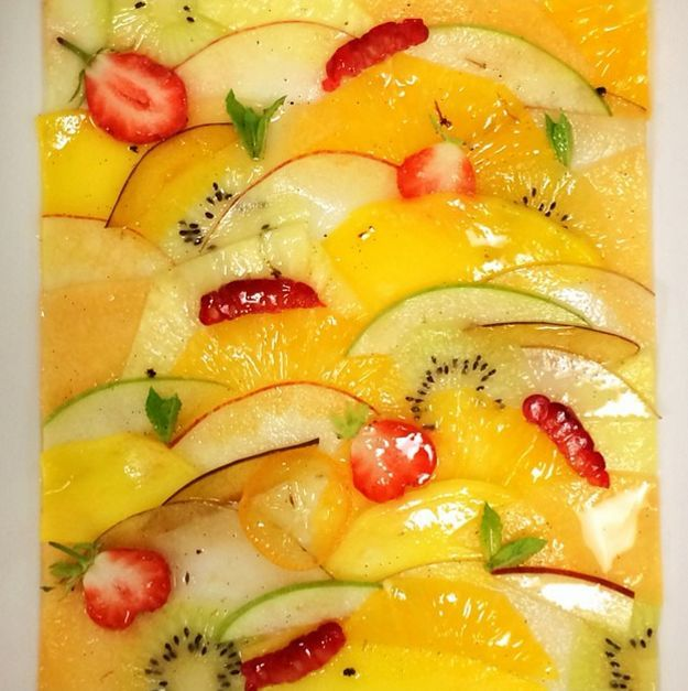 Carpaccio de fruits Jean Imbert