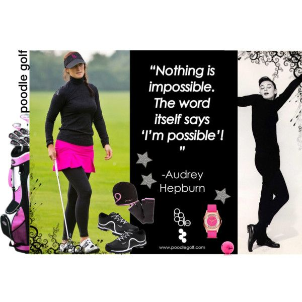 "Golf inspired by Audrey Hepburn... of course I love it. ""Jo Stockton"" by poodle on Polyvore"