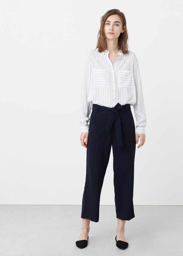 Pantalon crop   MANGO