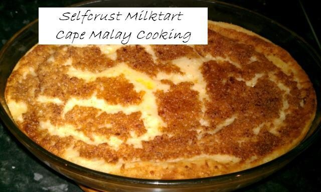 Crustless Melktert (quick) by Cape Malay Cooking & Other Delights on Facebook: