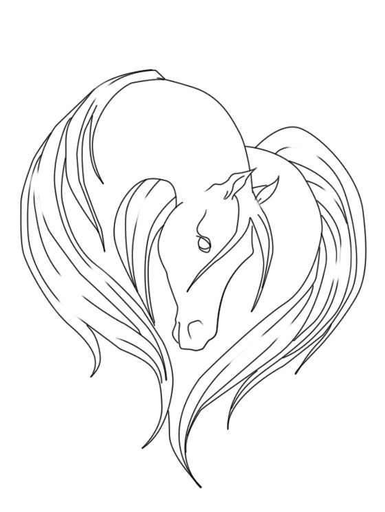 Horse Line Drawing Tattoo : Horse lineart by margony on deviantart art pinterest