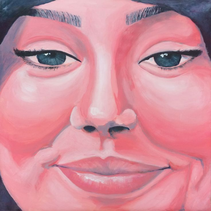 Smiling people 2 #smilingpeople #laughing #face #woman #headscarf #smile #painting #acryl