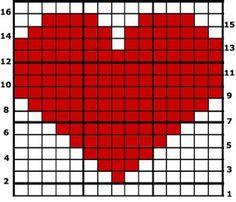 Herz  Einhäkelmotiv/ crochet