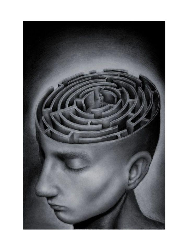 Gemaakt door: Sebastian Erikkson   Stroming: Surrealisme. Dit vind ik weer een diepgaand schilderij. Dit is niet een schilderij waar je lang naar kijkt per se, maar een schilderij waar je lang bij nadenkt, om te achterhalen wat het betekent. Ik zelf denk dat een persoon veel chaos in zijn hoofd heeft en niet weet wat hij moet doen. Zelf vind ik zulke schilderijen echt krachtig, vooral dus omdat het een betekenis heeft. Het is meer dan 'woorden' denk ik ook.