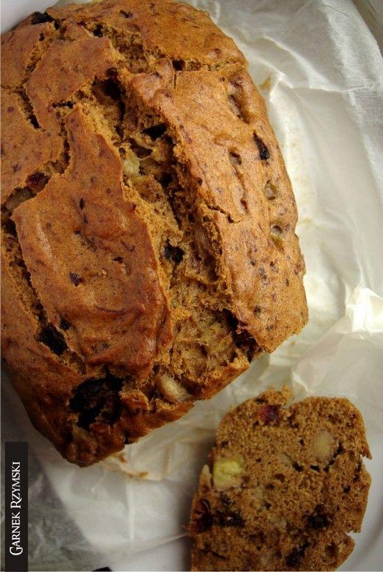 Bezglutenowe korzenne ciasto z bananami i czekoladą - Smaczne Inspiracje