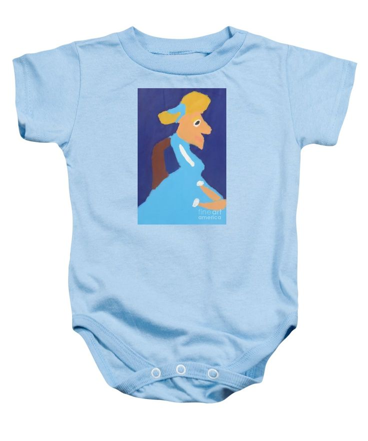 Patrick Baby Onesie featuring the painting Portrait Of Adeline Ravoux 2014 - After Vincent Van Gogh by Patrick Francis