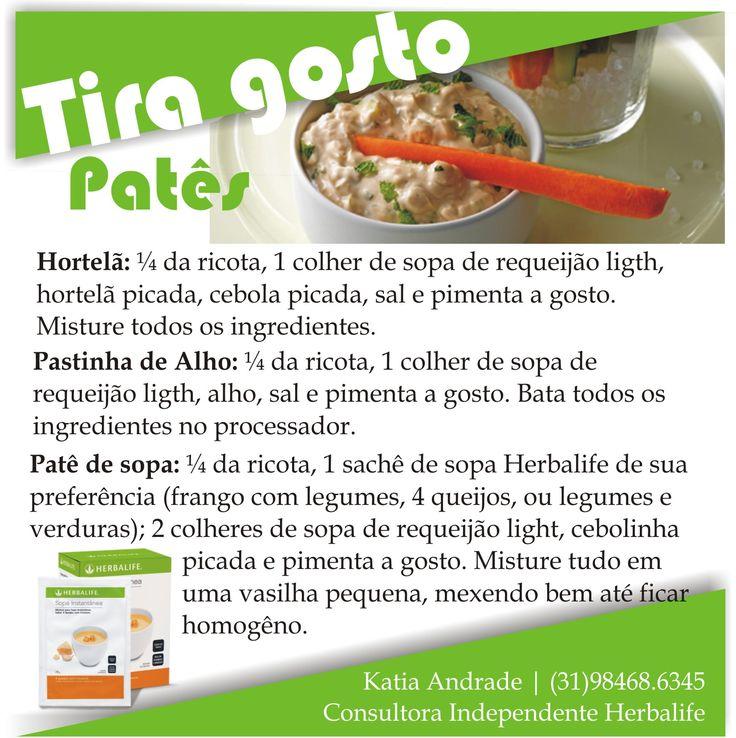 dica Herbalife receita saborosa baixa caloria tira gosto saudável comer sem culpa sopa lanche sabor frango com legumes