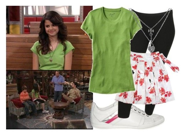 """Selena Gomez as Alex Russo"" by jc10 ❤ liked on Polyvore featuring Disney, Dior Homme, Forever 21, Old Navy, Betsey Johnson, credit check, alex russo, wowp, selena gomez and wizards of waverly place"